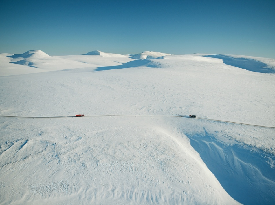 A route through the ice, Chukotka, Russia.