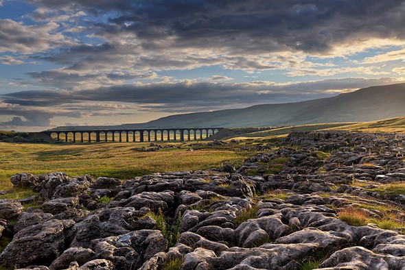 Network Rail 'Lines in the Landscape' Award - Winner Francis Taylor - Sunshine breaks through, Ribblehead Viaduct, North Yorkshire, England